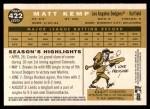 2009 Topps Heritage #422  Matt Kemp  Back Thumbnail