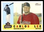 2009 Topps Heritage #408  Carlos Lee  Front Thumbnail