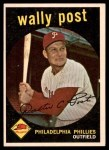 1959 Topps #398  Wally Post  Front Thumbnail