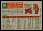 1959 Topps #191  Russ Kemmerer  Back Thumbnail
