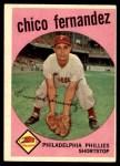 1959 Topps #452  Chico Fernandez  Front Thumbnail