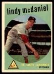 1959 Topps #479  Lindy McDaniel  Front Thumbnail