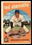 1959 Topps #169  Ted Abernathy  Front Thumbnail
