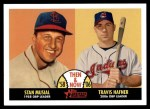 2007 Topps Heritage Then & Now #8 TN Stan Musial / Travis Hafner  Front Thumbnail