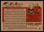 2007 Topps Heritage Flashbacks #8 F Jim Bunning  Back Thumbnail