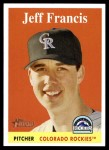 2007 Topps Heritage #111  Jeff Francis  Front Thumbnail