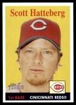 2007 Topps Heritage #12  Scott Hatteberg  Front Thumbnail