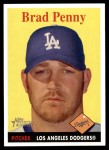 2007 Topps Heritage #25  Brad Penny  Front Thumbnail