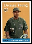 2007 Topps Heritage #47  Delmon Young  Front Thumbnail