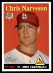 2007 Topps Heritage #65 YN Chris Narveson   Front Thumbnail