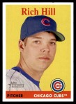 2007 Topps Heritage #184  Rich Hill  Front Thumbnail