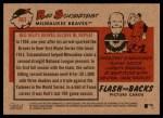 2007 Topps Heritage Flashbacks #3 F Red Schoendienst  Back Thumbnail