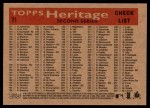2007 Topps Heritage #71   Los Angeles Dodgers Team Back Thumbnail