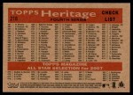 2007 Topps Heritage #216   St. Louis Cardinals Team Back Thumbnail