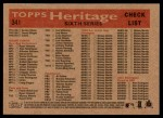 2007 Topps Heritage #341   Pittsburgh Pirates Team Back Thumbnail