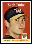 2007 Topps Heritage #253  Zach Duke  Front Thumbnail