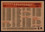 2007 Topps Heritage #377   Atlanta Braves Team Back Thumbnail