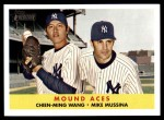 2007 Topps Heritage #334  Chien-Ming Wang  /  Mike Mussina  Front Thumbnail