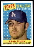 2007 Topps Heritage #492   -  Brad Penny All-Star Front Thumbnail