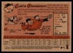 2007 Topps Heritage #434  Curtis Granderson  Back Thumbnail