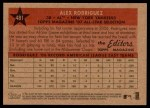 2007 Topps Heritage #481   -  Alex Rodriguez All-Star Back Thumbnail