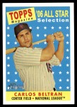 2007 Topps Heritage #486   -  Carlos Beltran All-Star Front Thumbnail