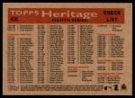 2007 Topps Heritage #408   Baltimore Orioles Team Back Thumbnail
