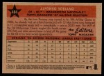 2007 Topps Heritage #484   -  Alfonso Soriano All-Star Back Thumbnail
