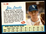 1962 Post #50  Jim Landis   Front Thumbnail