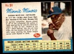 1962 Post #51  Minnie Minoso   Front Thumbnail
