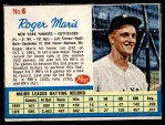 1962 Post #6 xAD Roger Maris   Front Thumbnail