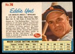 1962 Post #76  Eddie Yost   Front Thumbnail