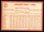 1964 Topps #237   Cubs Team Back Thumbnail
