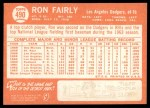 1964 Topps #490  Ron Fairly  Back Thumbnail