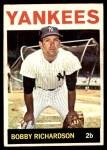 1964 Topps #190  Bobby Richardson  Front Thumbnail