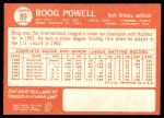 1964 Topps #89  Boog Powell  Back Thumbnail
