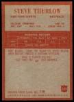 1965 Philadelphia #123  Steve Thurlow   Back Thumbnail