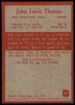 1965 Philadelphia #181  John Thomas   Back Thumbnail