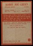 1965 Philadelphia #22  Bobby Joe Green  Back Thumbnail