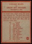 1965 Philadelphia #28   -  George Halas Chicago Bears  Back Thumbnail