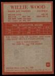 1965 Philadelphia #83  Willie Wood   Back Thumbnail