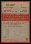 1965 Philadelphia #46  Buddy Dial  Back Thumbnail