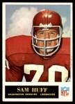 1965 Philadelphia #187  Sam Huff   Front Thumbnail