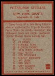 1965 Philadelphia #154   -  Buddy Parker Pittsburgh Steelers Back Thumbnail