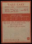 1965 Philadelphia #63  Yale Lary    Back Thumbnail