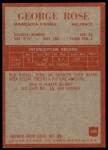 1965 Philadelphia #109  George Rose   Back Thumbnail