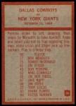 1965 Philadelphia #56   -  Tom Landry Dallas Cowboys Back Thumbnail