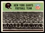 1965 Philadelphia #113   Giants Team Front Thumbnail