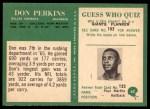 1966 Philadelphia #62  Don Perkins  Back Thumbnail