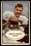 1953 Bowman #15  Dante Lavelli  Front Thumbnail